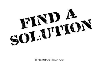 Find A Solution rubber stamp. Grunge design with dust ...