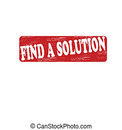 Find a solution - Stamp with text find a solution inside, ...