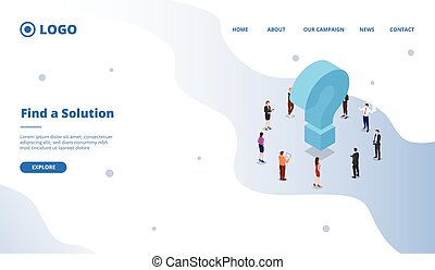 find a solution to solve business problem concept for website template or landing homepage site