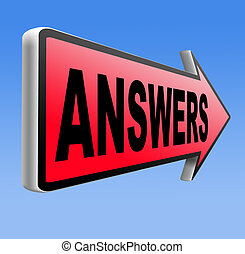 find answers to solve problems answer road sign arrow search answer and discover truth