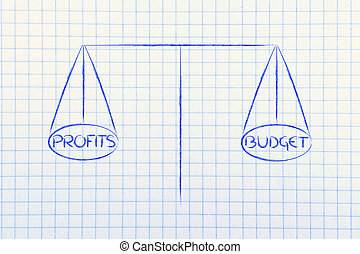 find balance between allocated budget and desired profits -...