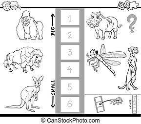 find biggest animal activity color book