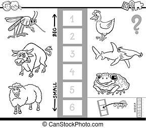 find biggest animal color book - Black and White Cartoon...