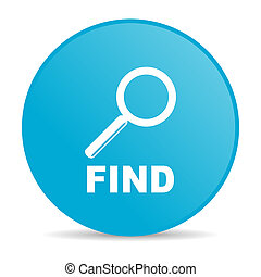 find blue circle web glossy icon