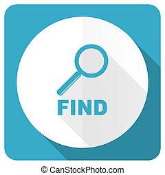 find blue flat icon