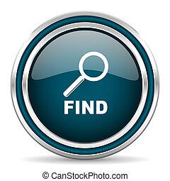 find blue glossy web icon