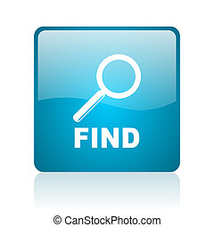 find blue square web glossy icon
