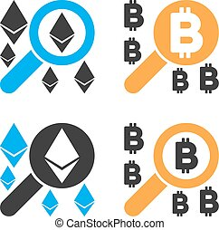 Find Cryptocurrency Vector Icon Set