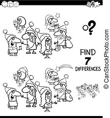 find differences Christmas color book