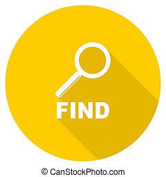 find flat design yellow web icon