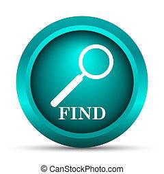 Find icon. Internet button on white background.