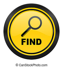 find icon, yellow logo