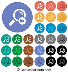 Find last search result round flat multi colored icons -...