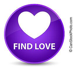 Find love elegant purple round button