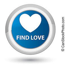 Find love prime blue round button