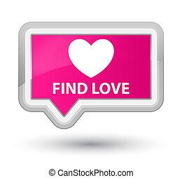 Find love prime pink banner button