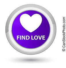 Find love prime purple round button