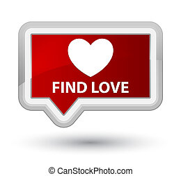 Find love prime red banner button