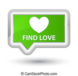 Find love prime soft green banner button
