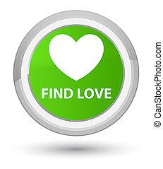 Find love prime soft green round button