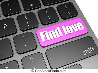 Find love with black keyboard