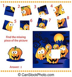 Find missing piece - Puzzle game