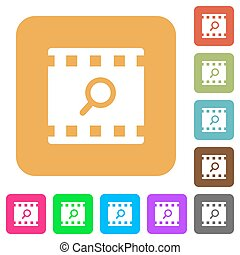 Find movie rounded square flat icons