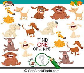 find one dog of a kind game for children