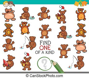 find one of a kind activity with bears
