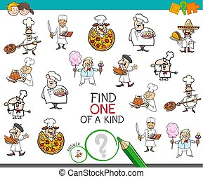 find one of a kind game with chef characters