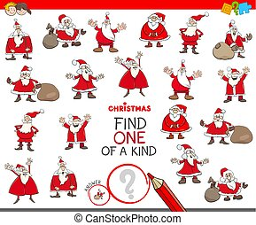 find one of a kind game with Santa Claus