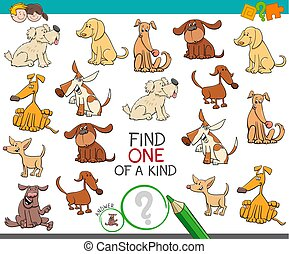 find one of a kind with dog characters