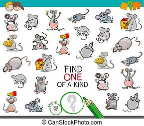 find one of a kind with mouse characters - Cartoon...