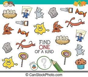 find one picture of a kind activity - Cartoon Illustration ...