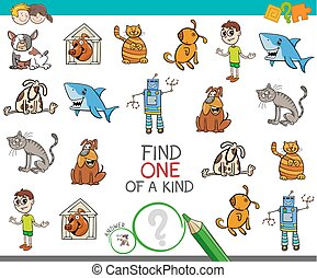 find one picture of a kind activity game - Cartoon ...