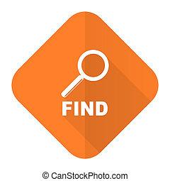find orange flat icon