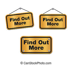 find out more - bronze signs