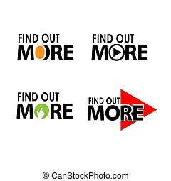 Find out more. Creative lettering vector illustration. illustration in vector format.