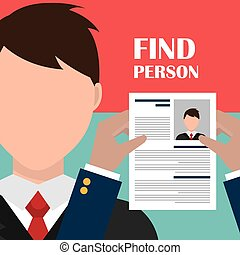 Find person and job interview