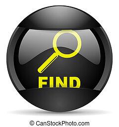 find round black web icon on white background
