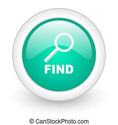 find round glossy web icon on white background