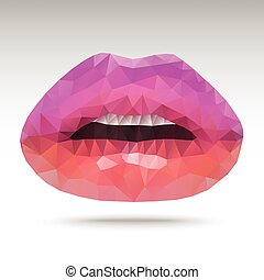 Find Similar Images Lips Abstract polygonal