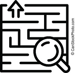 Find solution icon, outline style