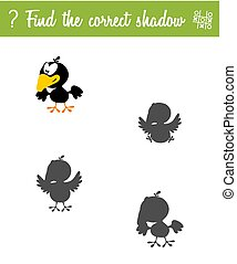Find the correct shadow. Education game for children