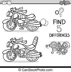 find the differences for coloring