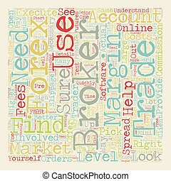 Find the Right Broker text background wordcloud concept
