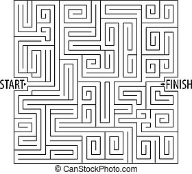 Find the right way. Logical games. Maze Game. Tangled lines