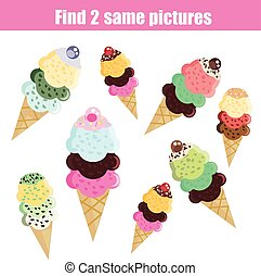 Find the same pictures children educational game