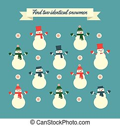 find two identical snowmen game