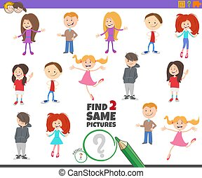 find two same children characters game for kids